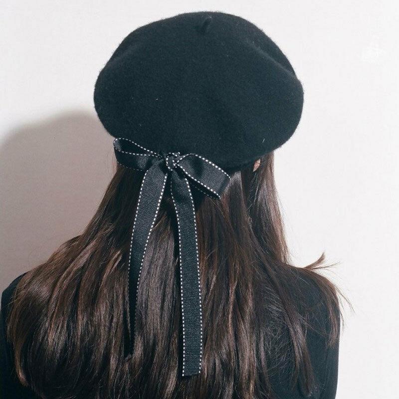 Professional Sale Lady Spring Winter Hat Painter Style Hat Women Wool Vintage Solid Color Caps Female Bonnet Warm Walking Cap