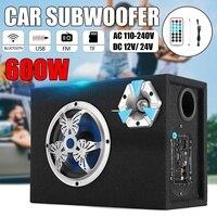 6 дюймов 600 Вт bluetooth автомобильный сабвуфер бас Авто Стерео усилители домашние домашнего аудио USB/TF карты/FM радио дистанционное управление