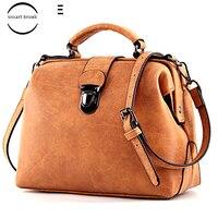 Women's Bag Shoulder Female Luxury Matte Leather Messenger Bag Women's Crossbody Ladies Hand Bags For Women Sac Doctor retro bag