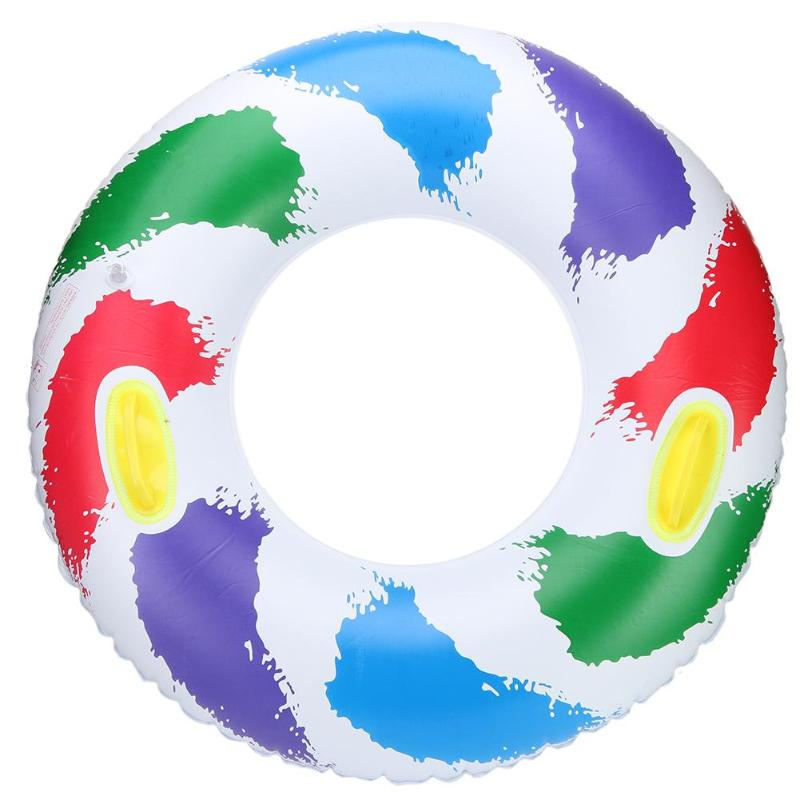 Teenagers Sport Swim Ring Inflatable Swimming Pool Party Floating Ring With Handle Kids' Floats Water Fun Swimming Rings
