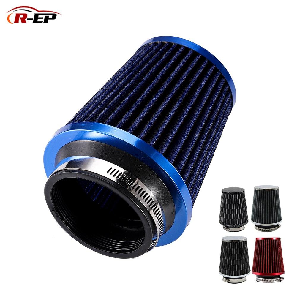 R-EP Universal filtro de aire del coche de 3 pulgadas entrada de aire frío sobrealimentador para 76mm manguera de admisión de Kit de filtro de ar esportivo