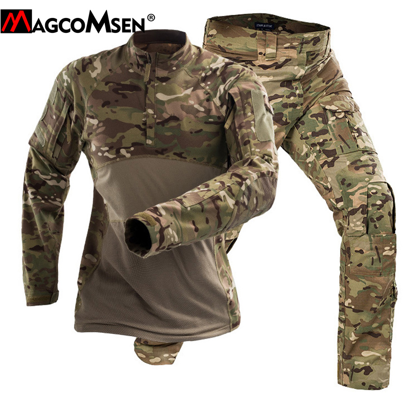 MAGCOMSEN Tactical Uniforms Men Military Clothing Sets Camouflage Airsoft Combat Special Force Suits Paintball Hunt Cloth