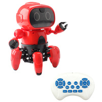 MoFun 991 Intelligent Programming 6 Way Remote Control Robot 5 Modes Voice Control RC Robot Learning Toys For Kids Birthday Gift