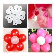 10 шт. 5 в 1 цветок сливы форма d воздушный шар аксессуары Клип латекса в форме цветка сливы воздушный шар клип набор ясного цвета