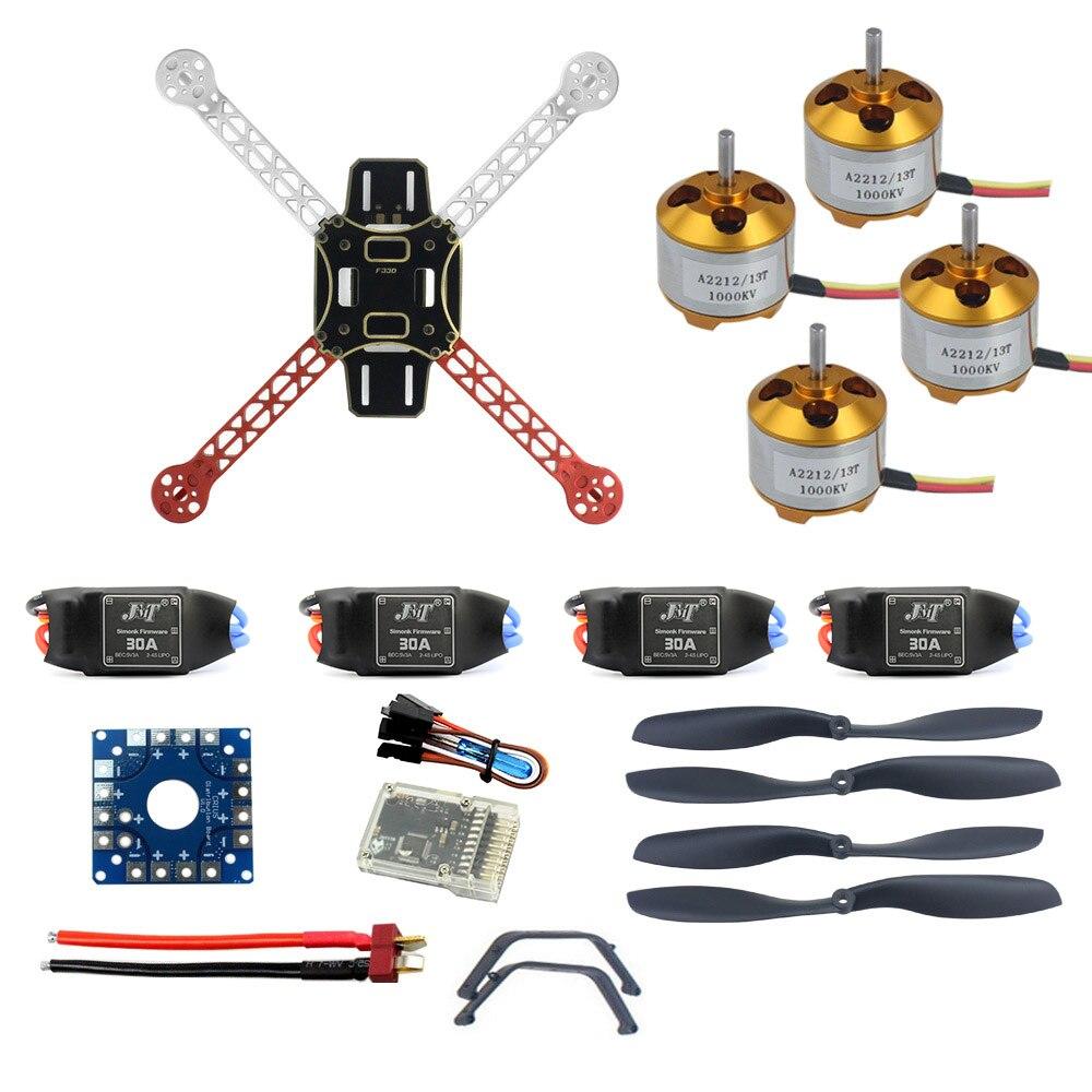 Rc zangão quadrocopter aircraft kit f330 multicopter quadro qq super controle de vôo nenhum transmissor sem bateria F02471-I