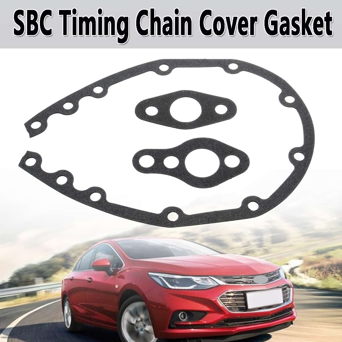 SBC Black Timing Cover w// Bowtie Emblem 305 327 350 400