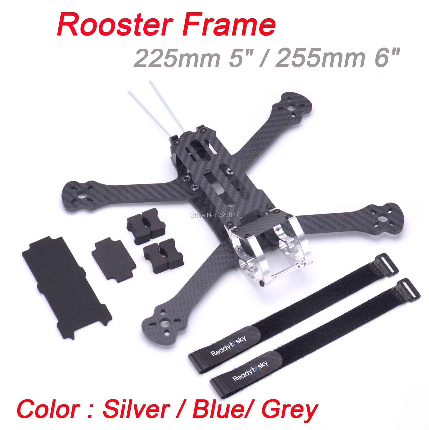 Rooster 5inch 230 225mm 6inch 255mm FPV Racing Drone Quadcopter Frame FPV Freestyle Frame For Chameleon