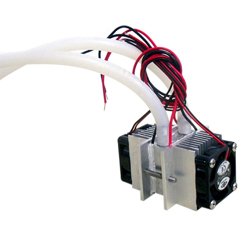 DIY kits Thermoelectric Peltier Refrigeration Cooling System Water cooling+ fan+ 2pcs TEC1-12706 Coo