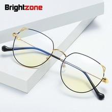 Brightzone Анти Blue Ray близорукости Optik в ретро-стиле, прозрачные очки, Для мужчин Для женщин компьютер металлический каркас оптические очки по рецепту