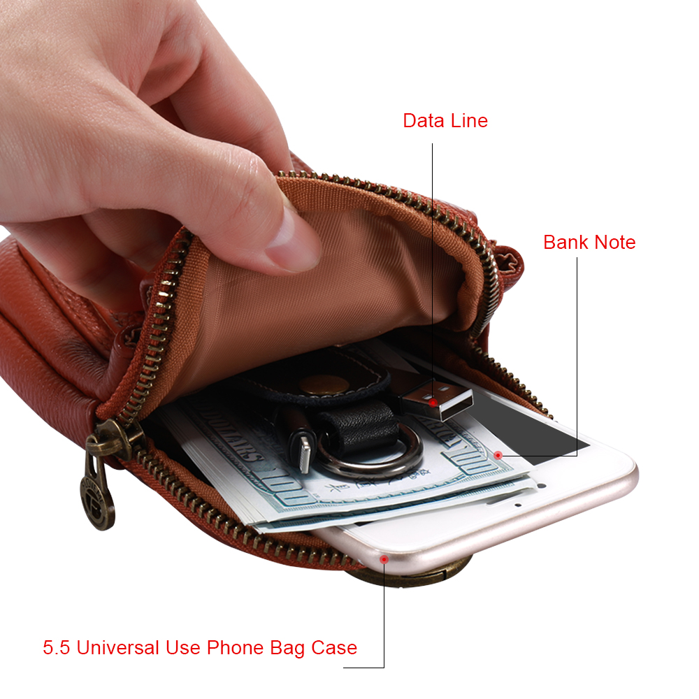 FLOVEME Leather Bags Pouch Phone Case For iPhone 8 7 6 6s Plus 5 5s SE Card Slot Pouch Case For Samsung For Xiaomi Fundas Cover
