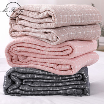 150*200cm Cotton Towel Cloth Japan Style Air Condition Summer Quilt Knitted Blankets for Beds Plaids Bed Cover cobijas para cama