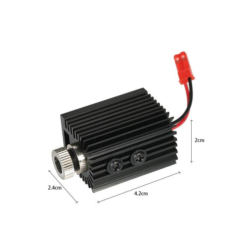 1 pc 1000 mW 1500 mW 405nm Blueviolet Lumière Laser Tête laser Module Graveur Accessoire pour CNC Laser Sculpture Gravure machine