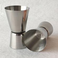 Нержавеющая сталь двойной мерный стаканчик выстрел Стекло коктейльное бармен смеситель мерный стакан