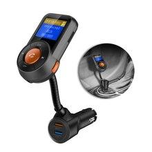 цена на FM Transmitter Bluetooth FM Modulator Handsfree Car Kit MP3 Player TF music play USB Quick Charge