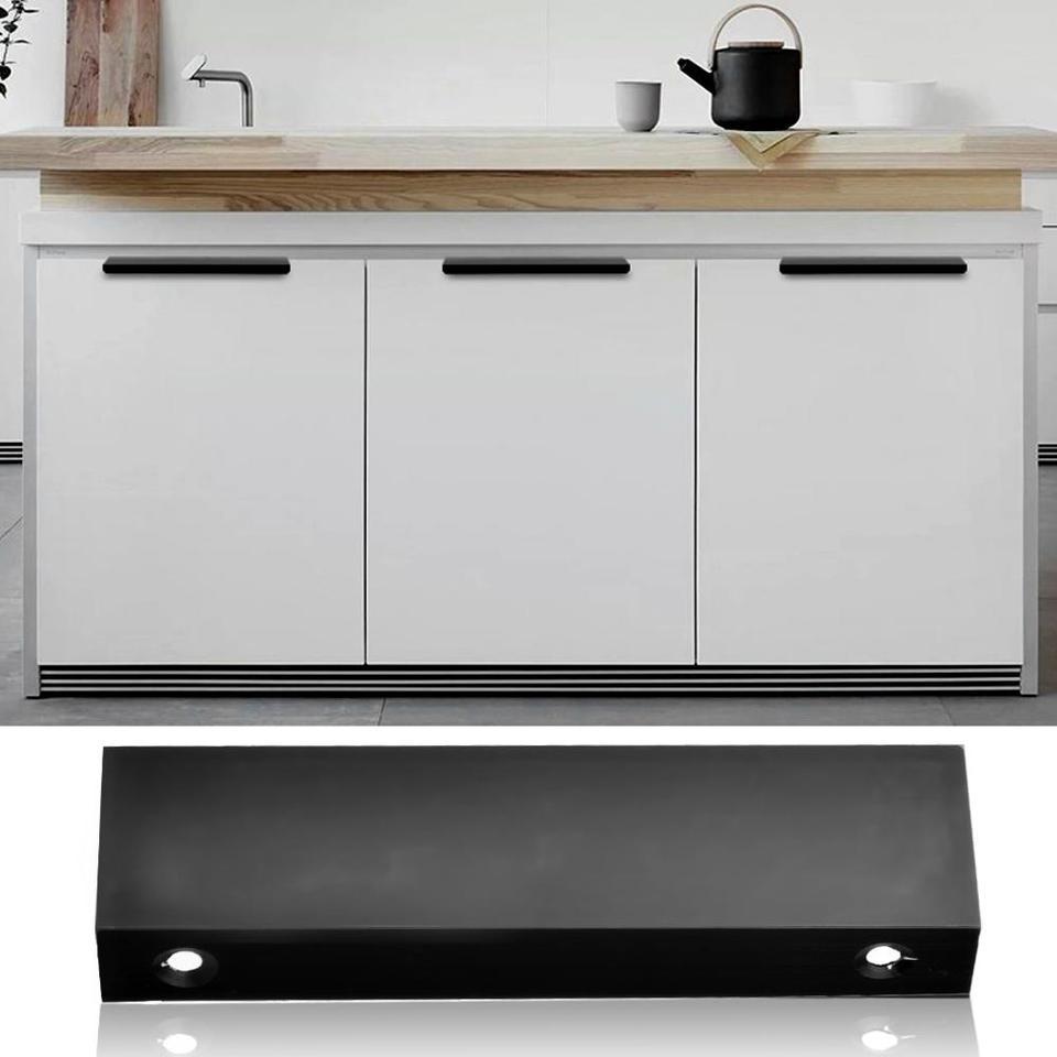 US $3.32 3% OFFZinc Alloy Cabinet Door Edge Handle Wardrobe Drawer Pulls  Black Hidden Furniture Handles Kitchen Cupboard Pulls DrawerDoor Handles