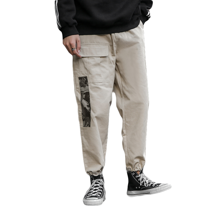 Japanese large size spring color matching tide brand casual pants men loose overalls pants foot camouflage streetwear pants in Casual Pants from Men 39 s Clothing
