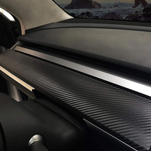 New Car Center Console Dashboard Vinyl Wrap Kit Stickers Carbon Fiber For Tesla Model 3 Decors Accessories