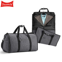 Travel bags hand luggage men travel bag for suit 2 in 1 Busines duffle garment bag for traveling Trip Organizer shoulder handbag