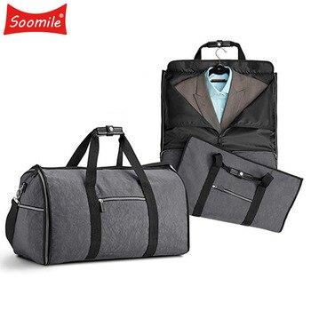 2 in 1 Travel bag for suit Duffle bag Waterproof Zipper Garment Bag Durable Big Men Business Trip Travel Bag luggage Organizer Сумка