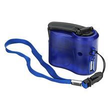 Портативный USB Ручной коленчатый генератор энергии на открытом воздухе аварийный цифровой дисплей зарядное устройство для телефона Ручное Зарядное устройство синий