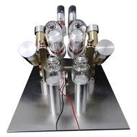 V образная форма четыре цилиндра генератор Стирлинга мощный двигатель модель строительные наборы игрушки для детей