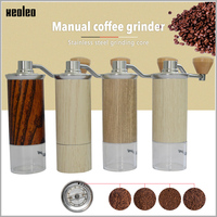XEOLEO Aluminum Manual Coffee grinder Conical Burr grinder for espresso coffee Portable Coffee miller Espresso coffee machine