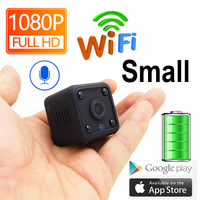 JIENUO 1080P Mini WiFi Camera Ip Camera Battery IpCam Cctv Wireless Security HD Surveillance Micro Cam Night Vision Home Monitor