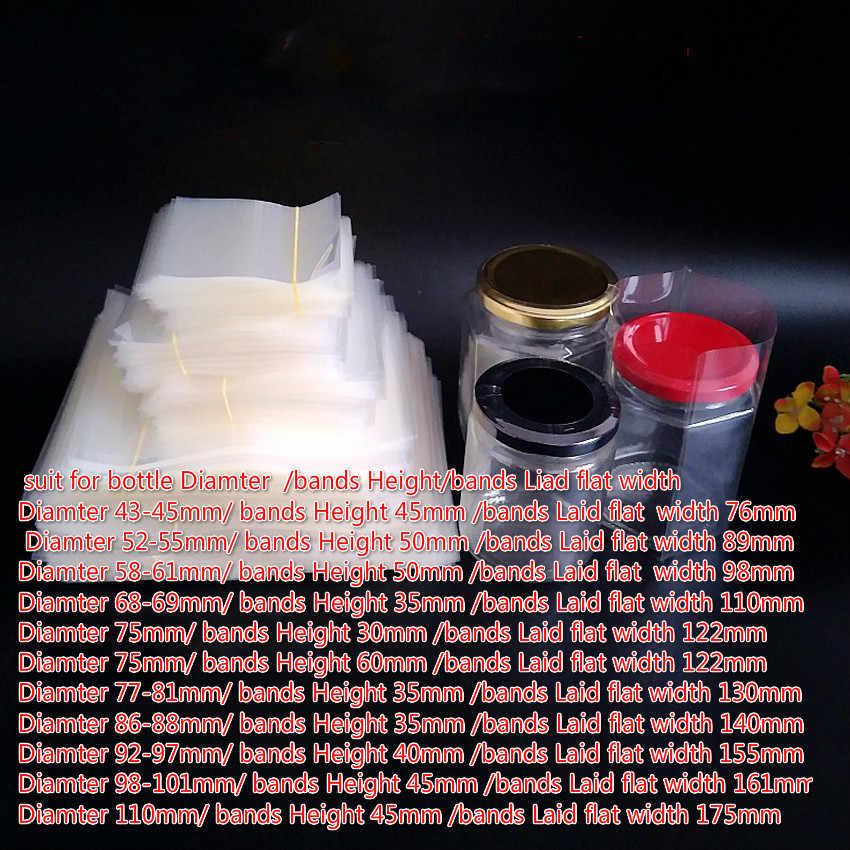 400pcs/lot New Sizes PVC Heat Shrink Bands For Jar Mouth/cap