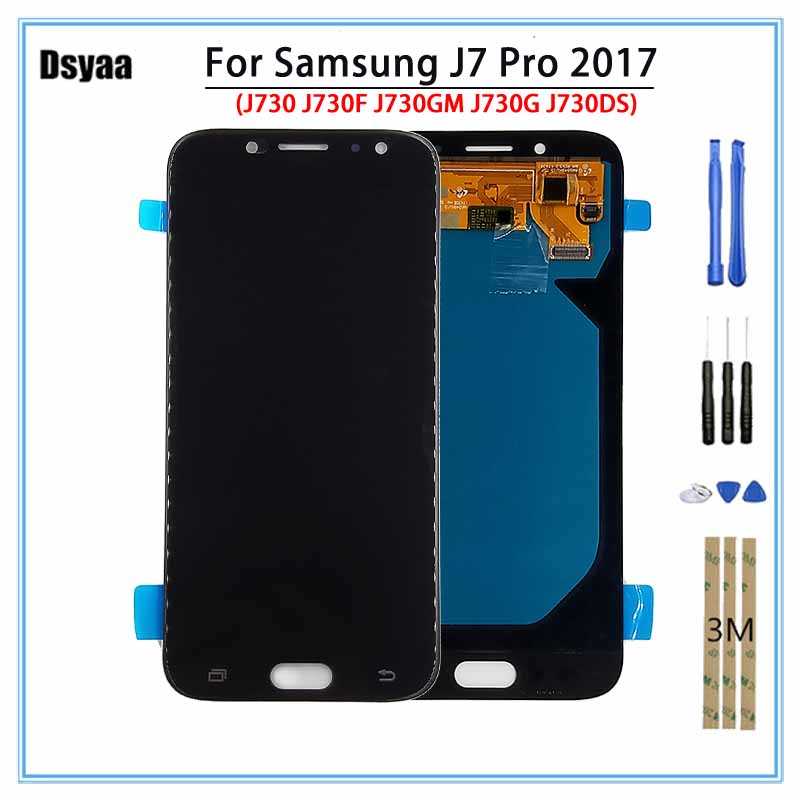 Super AMOLED pour Samsung J7 Pro 2017 J730 J730F J730GM J730G J730DS OLED LCD Display + Écran Tactile pour Samsung j730 LCD