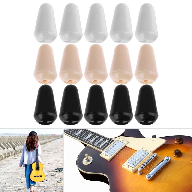 Hot Sale 10pcs 3/5 Way Plastic Guitar Toggle Switch Tip Cap for LP Electric Accessory  15 x 8 5mm 2019 New Arrival