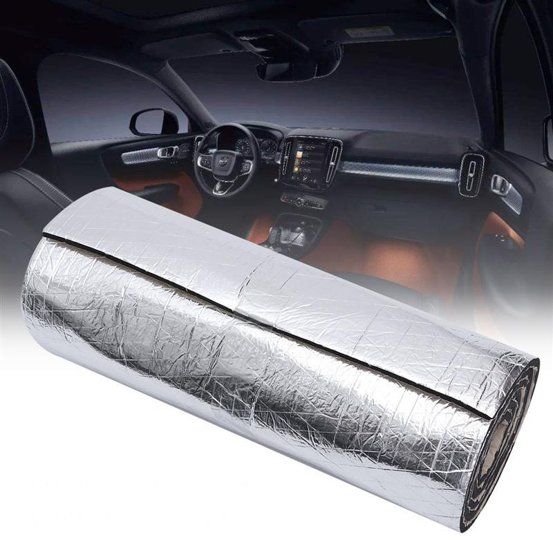 50x200 cm 10mm espuma algodão auto carro esteira deadener redução isolamento acústico de ruído porta do tronco de algodão à prova de som acessórios do carro