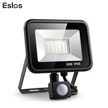 Eslas открытый прожектор 10 Вт 20 Вт Refletor Светодиодный прожектор поисковая лампа с Pir датчиком движения 220 В водонепроницаемый настенный гаражный свет