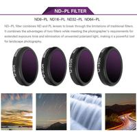 New 4 in 1 Varied Sunnylife ND PL Camera Lens Filter Set for DJI MAVIC 2 Zoom Drone Accessory Camera Photo Lens Accessories