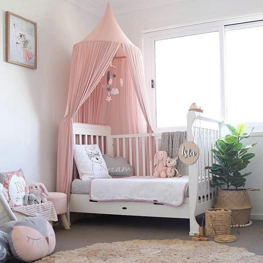 6 Colors Chiffon Hanging Baby Canopy Mosquito Net Anti Mosquito Princess Bed Canopy Kid Bedding Home Nursery Decor