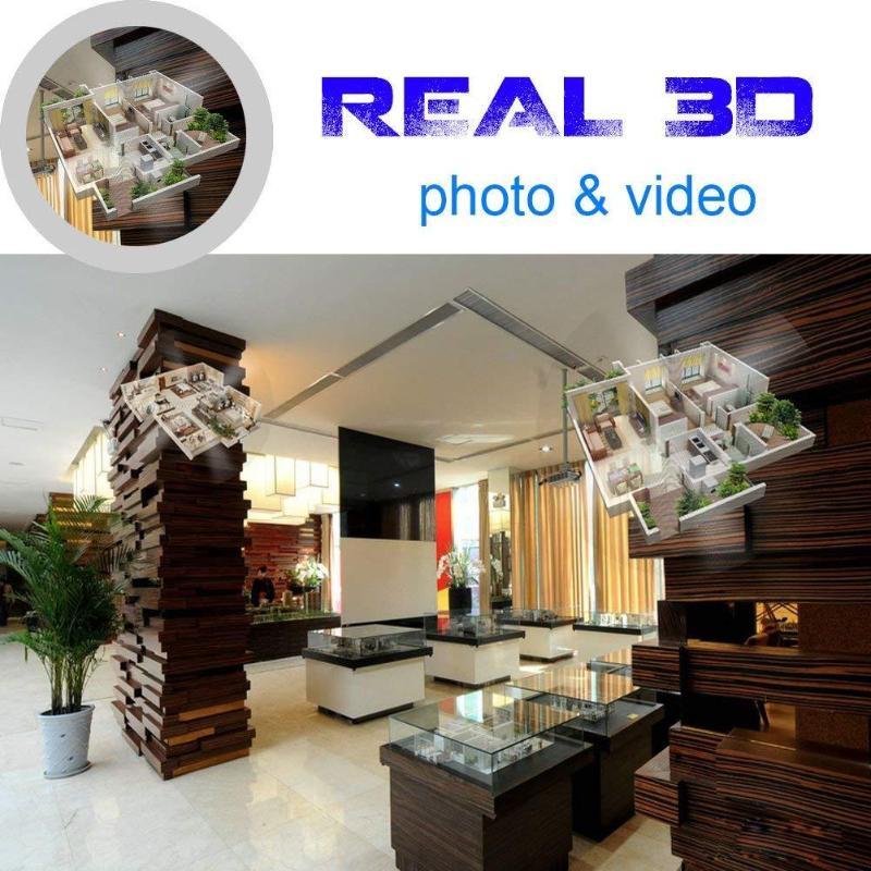 42 cm 3D hologramme projecteur lampe LED holographique publicité affichage ventilateur lumière avec 8 GB carte mémoire publicité lampe - 5