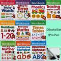 10 книг/набор, чистые рабочие книги, учим алфавит ABC/Times/Maths/Number Tricky Phonics, Детские слова, детская книга для письма на английском языке