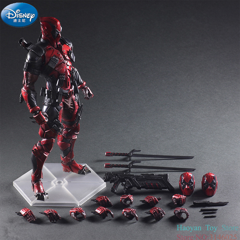 Disney Marvel Deadpool 2 Magnetic Action Figure Model Anime Doll Decoration PVC Collection Figurine Toys Movable Model for Gifts 24cm pvc deadpool action figure breaking the fourth wall scene dead pool kids birthday christmas model gift toys