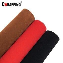 3 kolor aksamitny zamsz tekstura tkanina winylowa folia do pojazdu Film samochód DIY dekoracyjna tkanina futro naklejka samoprzylepna naklejka rolka Car Styling