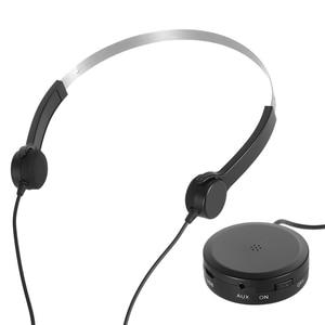 Image 2 - 骨伝導ヘッドセット補聴器ヘッドフォン骨伝導式サウンドイヤホンピックアップaux in用の聴覚困難