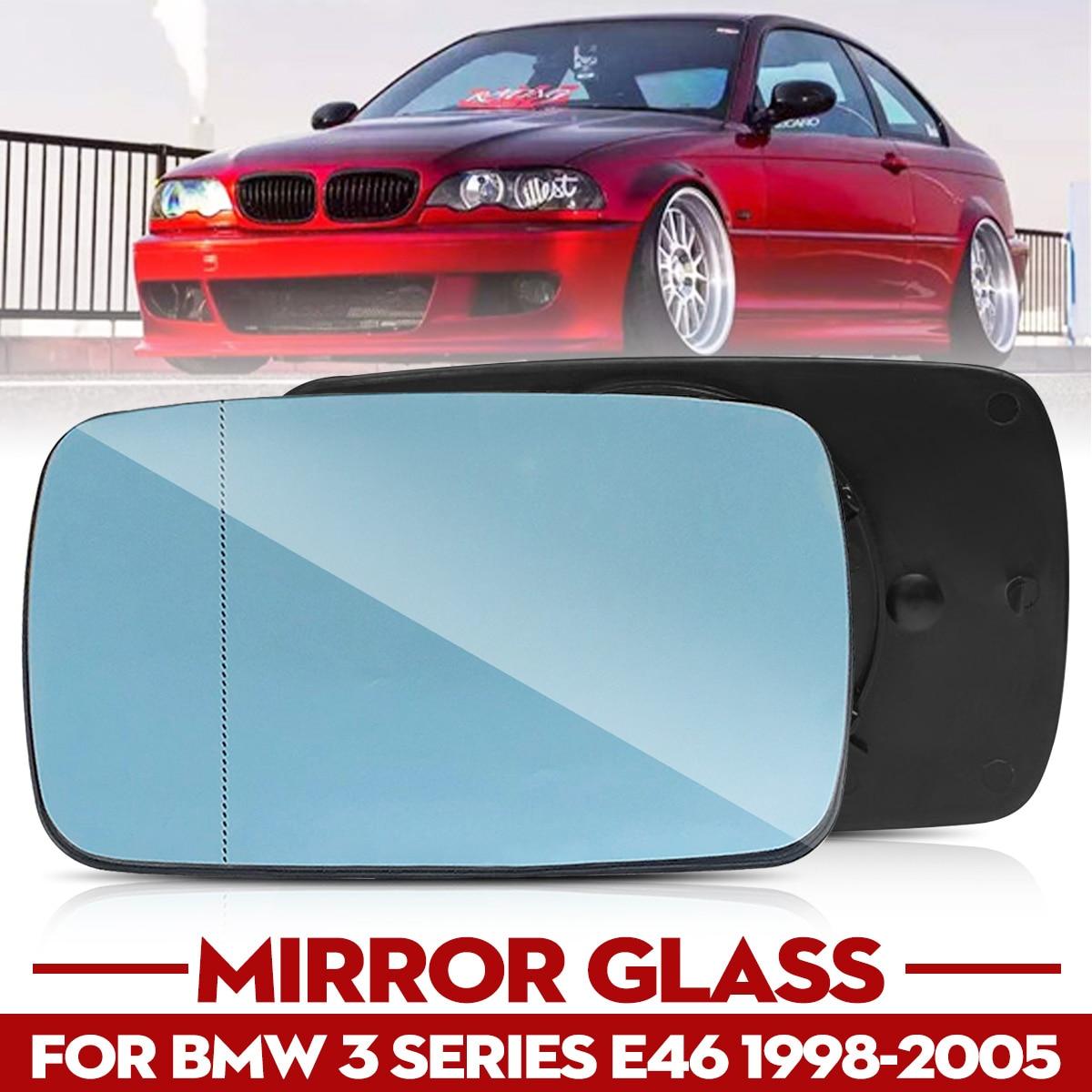 Substituição Esquerda Para a Direita Azul Aquecida Vidro Espelho Retrovisor Para BMW Série 3 E46 1998-2005 51168250438