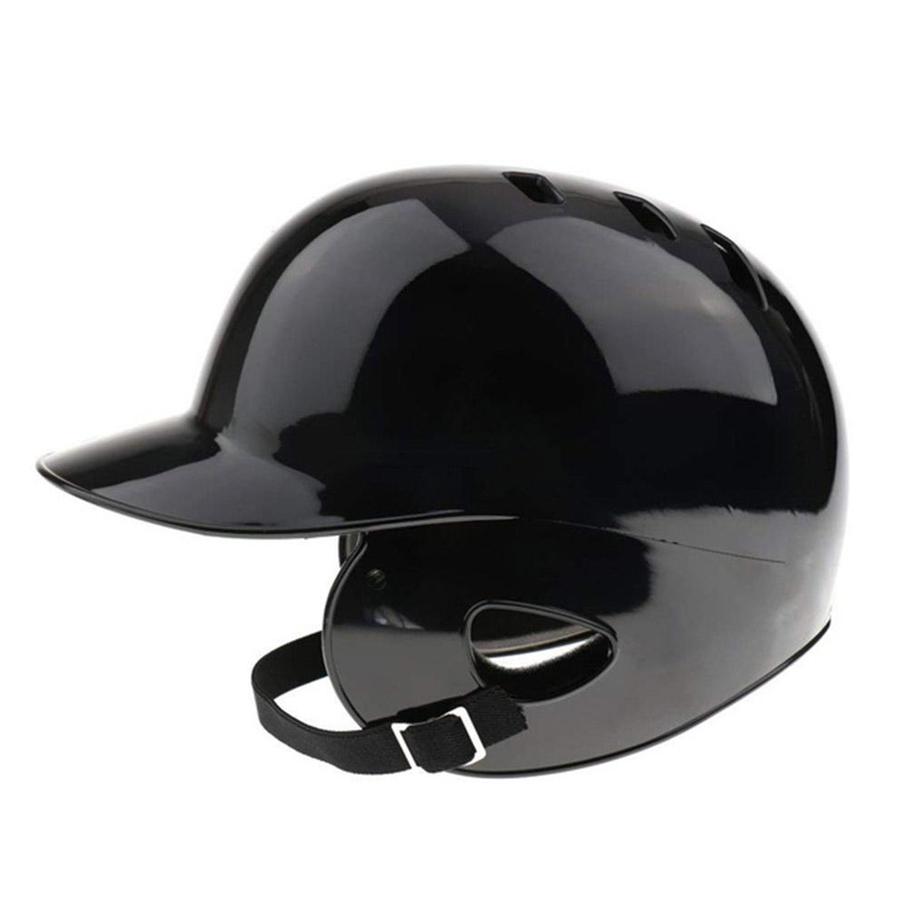 Mounchain Unisex General Baseball Helmet Breathable Double Ears Protection Baseball Sports Helmet Head Guard 55-60 CM head Black