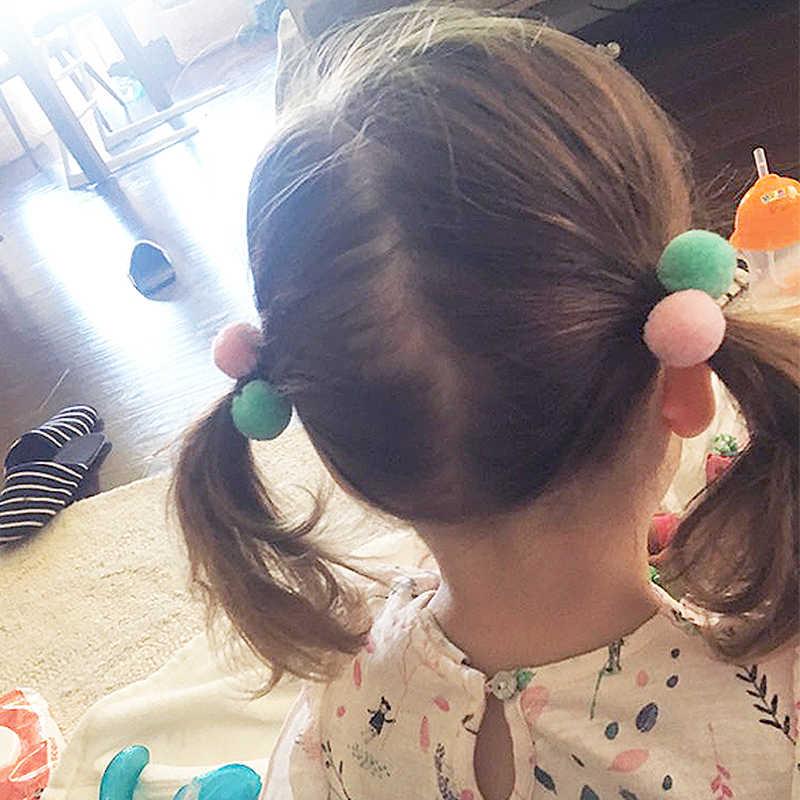2019 neue Hot1PC Nette Doppel Ball Haare Seil Für Kinder für Frauen Haar Band kind Kopf Zubehör