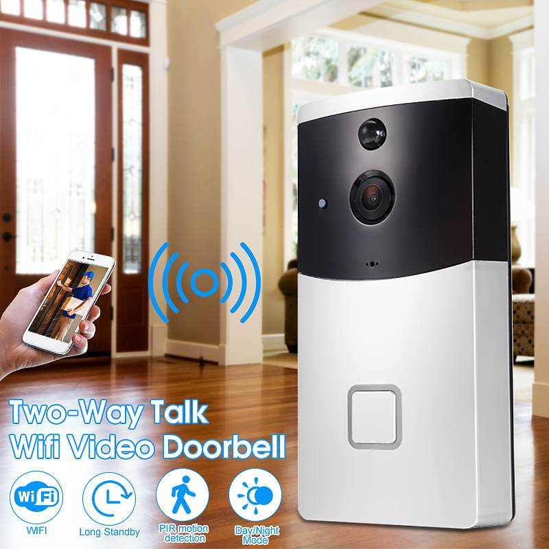 Wireless WiFi Smart Video DoorBell IR Visual Camera Record PIR Motion Detection Home SecurityWireless WiFi Smart Video DoorBell IR Visual Camera Record PIR Motion Detection Home Security