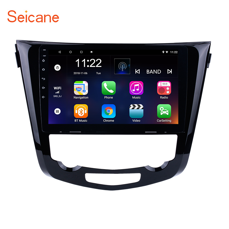 "Seicane 10.1"" Android 8.1 /7.1 2Din Car Radio GPS Navigation Stereo Audio Multimedia Player For 2014 Nissan QashQai X-Trail"
