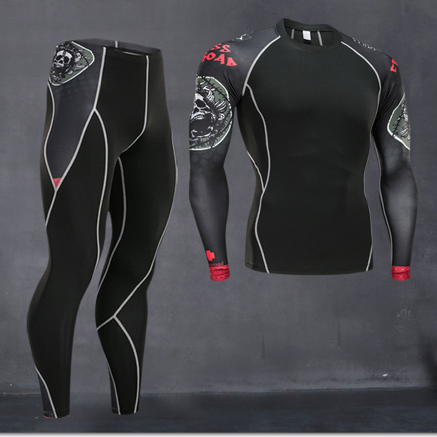 New Men Thermal Quick Compression Underwear Set Drying Men Suit Clothing Warm  Men  Heat Thermal Tracksuit Underwear Long Johns