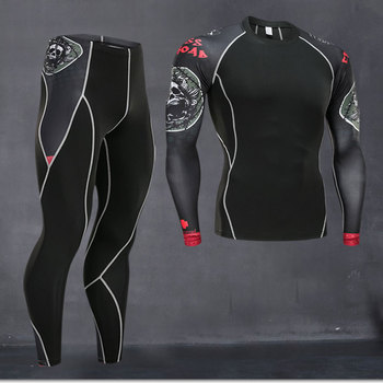new men thermal quick compression underwear set drying Suit clothing warm  heat tracksuit long johns
