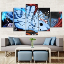 5 Piece Wall Art Anime Poster Picture One Jinbe Oka Shichibukai Painting Home Modern Decor Canvas Wholesale