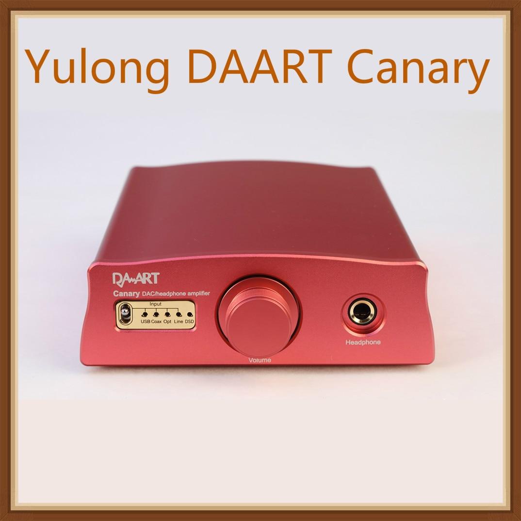 Yulong Audio DAART canaries ESS9018MK2 XMOS DSD256 PCM384KHz Coaxial optique USB DAC amplificateur de casque de bureau