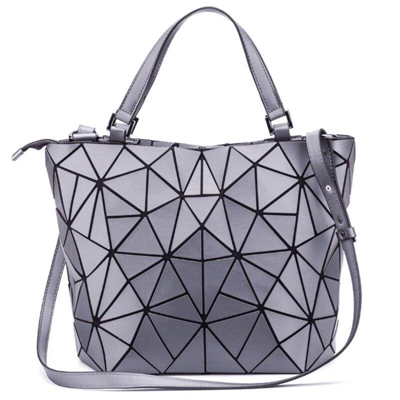 569244373f 2018 New Japan style Matte bao bags women handbags Geometric Fold Women  shoulder Bags Crossbody Ladies