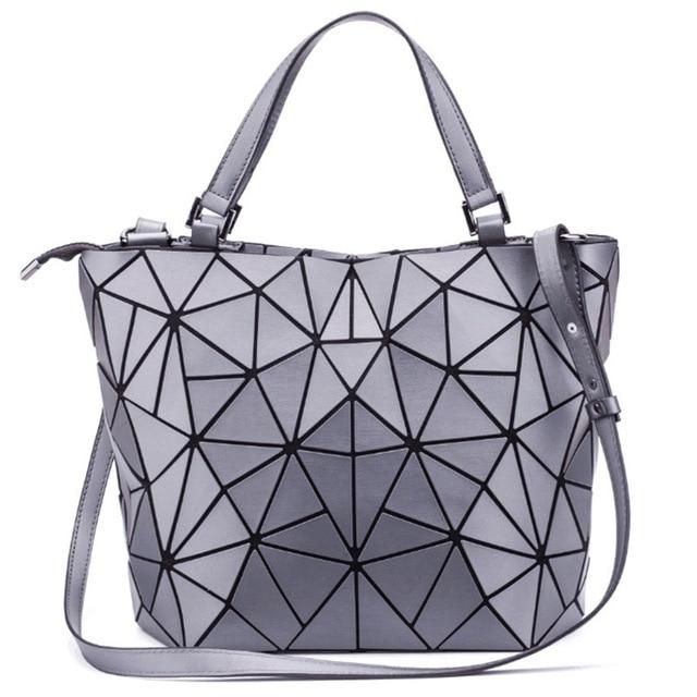 2ab4d919aaf3 2018 New Japan style Matte bao bags women handbags Geometric Fold Women  shoulder Bags Crossbody Ladies